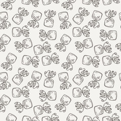 Vector Candy and Lollipop Seamless Pattern. Sweet Party Texture.