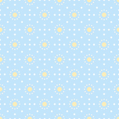 Simple abstract seamless dots pattern in pastel colors