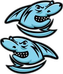 Shark Head Mascot Vector Illustration