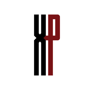 XP initial logo red and black