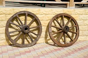 Old cart wheels