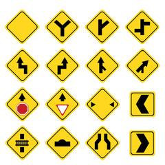 Set of transportation sign
