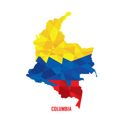 Map of Columbia Vector Illustration.