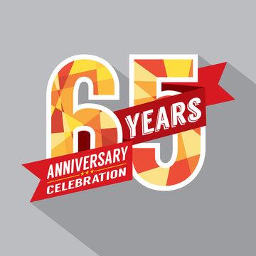 65th Years Anniversary Celebration Design.