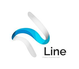 Modern vector ribbon logo
