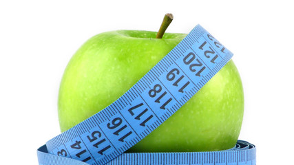 Apple and Measurement Fit Life Concept