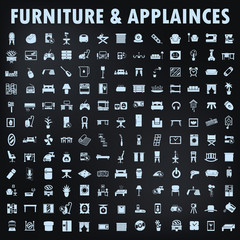 furniture & appialnces icons set