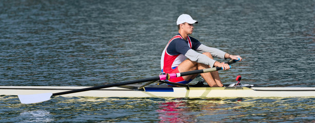 Single Sculling, panoramic