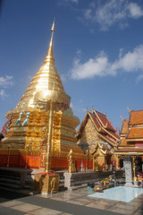 a magnificent Buddhist temple in Chiang Mai, Thailand