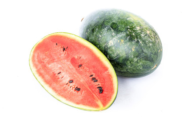 Watermelon slices isolate on white