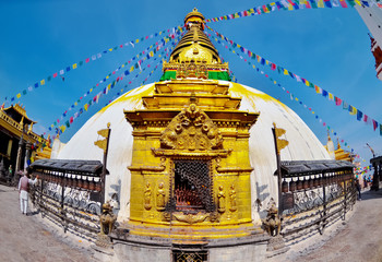 Swayambhunath Stupa taken in the capital of Nepal, Kathmandu