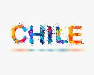 Chile. Splash paint word