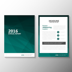 Abstract business Green Vector Leaflet Brochure Flyer template design, book cover layout design, Abstract green  presentation templates