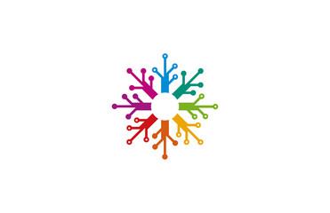 circle electric colorful logo