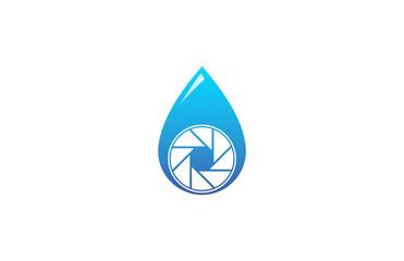 water drop photography logo