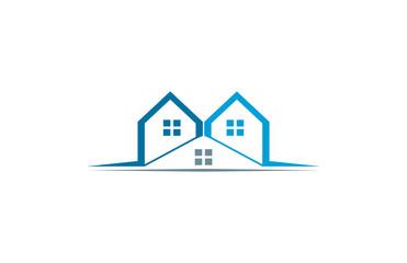 house real estate building logo