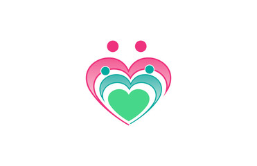 heart people family logo