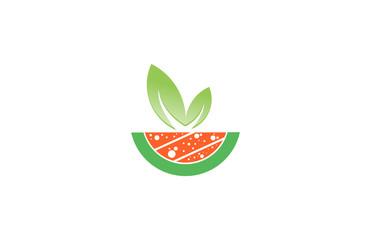 watermelon fruits logo