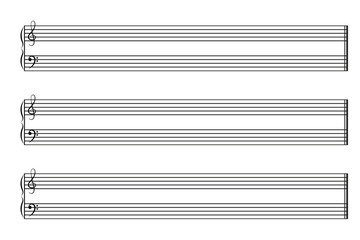 Sheet music books horizontal. Vector EPS10