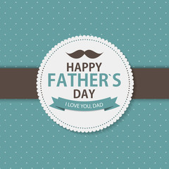 Happy Father`s Day Poster Card Background Vector Illustration