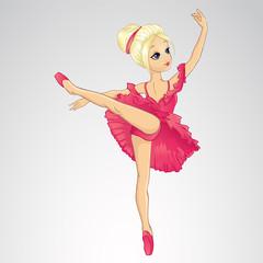 Ballerina Dancing In Pink Dress