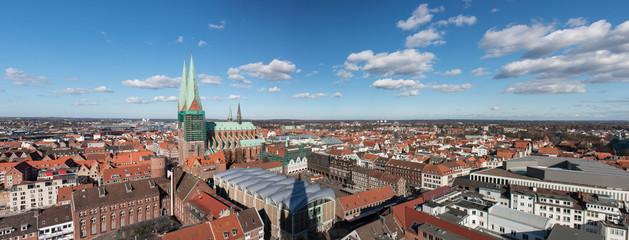 Panorama der Lübecker Innenstadt Schleswig-Holstein Lübeck