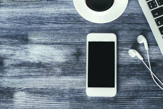 Blank smartphone top