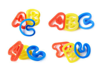 ABC letter forms isolated