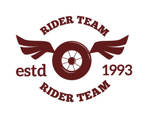 Motorcycle label badge vector. Moto club illustration