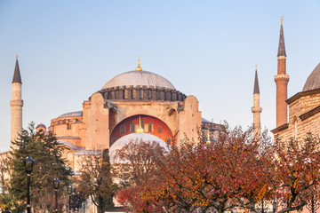 Hagia Sophia Museum, one of the most significant landmarks in Istanbul. Built as a cathedral in 537 AD