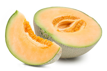 Orange cantaloupe melon isolated
