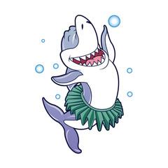 Shark cartoon dancing