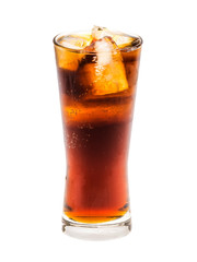 Cola cup drink isolated