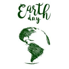 Earth day hand drawn vector illustration