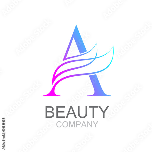 Abstract Letter A Logo Design Template With Beauty Industry And