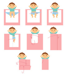 How to swaddle baby
