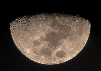 High resolution Moon image through a telescope