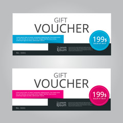 Vector design for Gift Voucher, Coupon