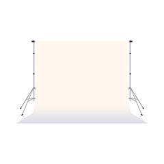 White paper studio backdrop icon, cartoon style