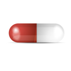 White and red pill vector image