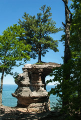 Chapel Rock, Pictured Rock National Lake Shore, Michigan, USA