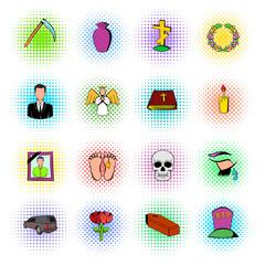 Death icon set