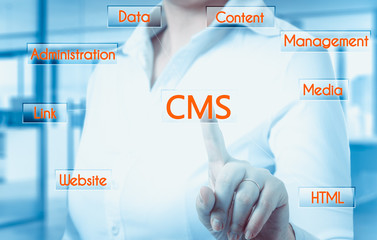 The concept of cms - content management system website administration