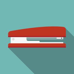 stapler icon witn long shadow. flat style vector illustration