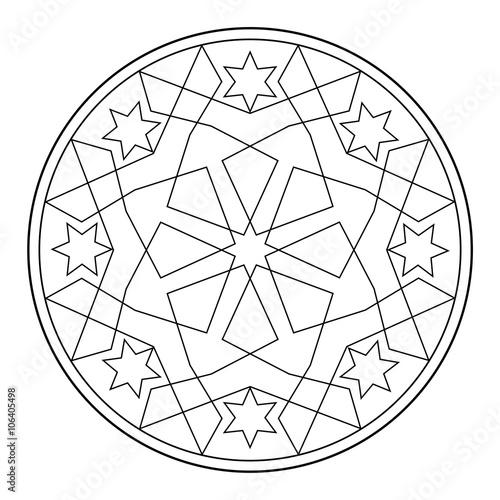 Mandala abstrakt (Malvorlage)\