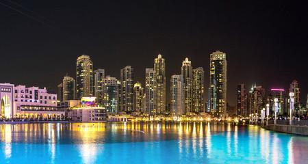 Panorama of Dubai downtown