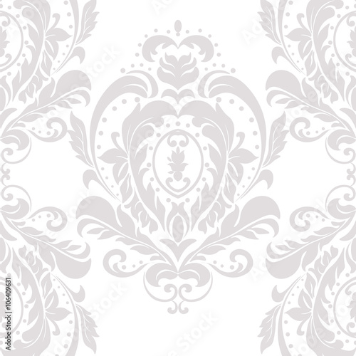 Vintage Damask Elegant Classic Ornament Pattern Luxury Texture For
