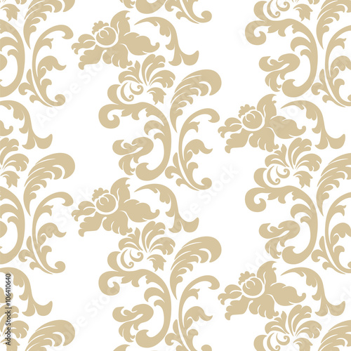 """Vintage Elegant Lily Flower Ornament Pattern. Luxury"