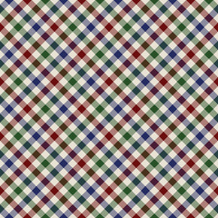 diagonal colored cloth in small squares seamless pattern