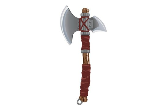Two sided blade battle axe